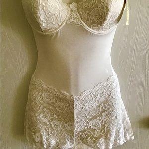 Panties Plus Intimates & Sleepwear - Panties plus cream lace bra  panties one piece M